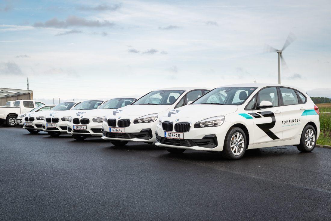 Unsere Leihwagen-Flotte besteht aus 1er und 2er BMWs.